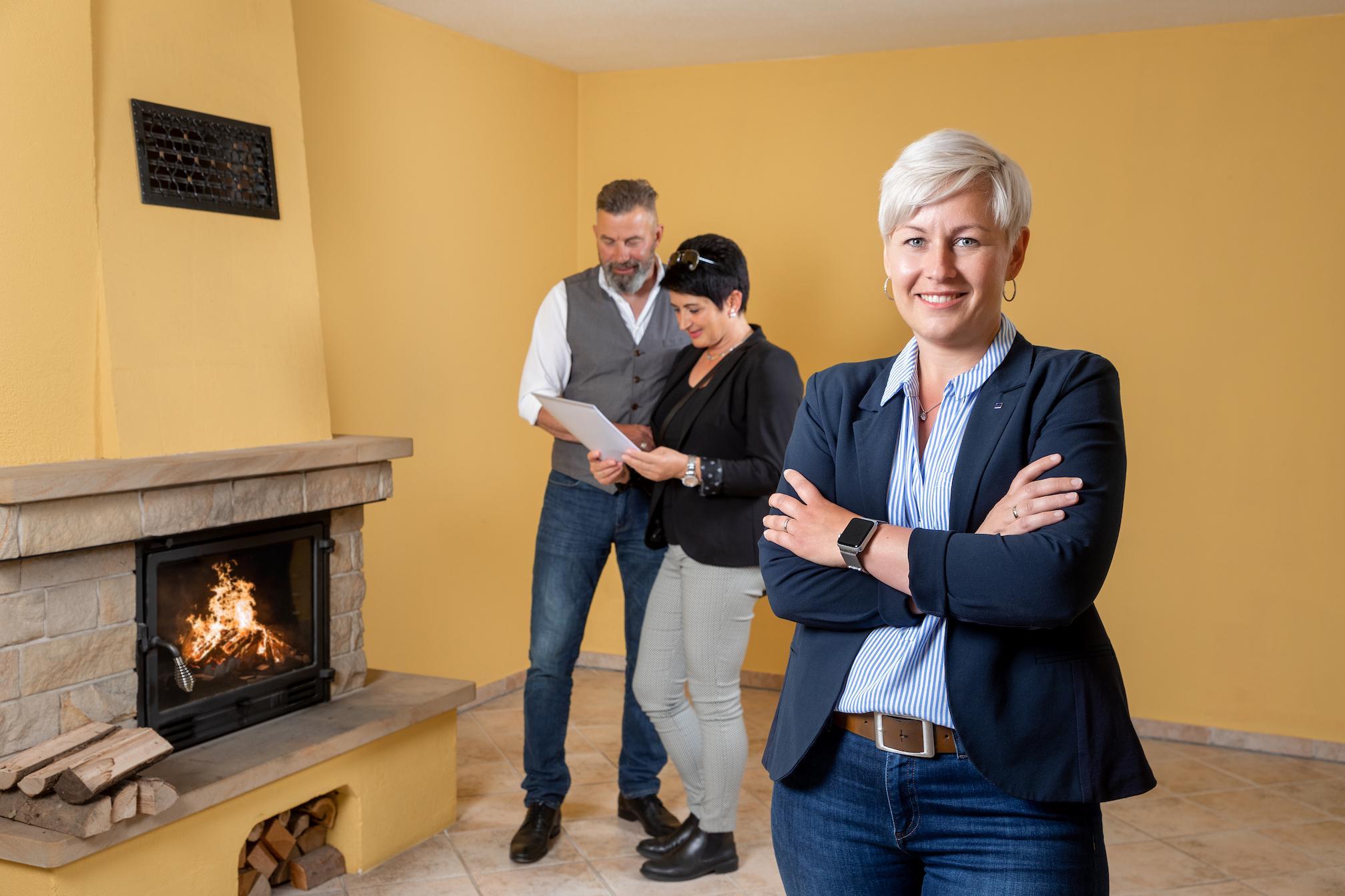 Besichtigung einer Immobilie mit Interessenten
