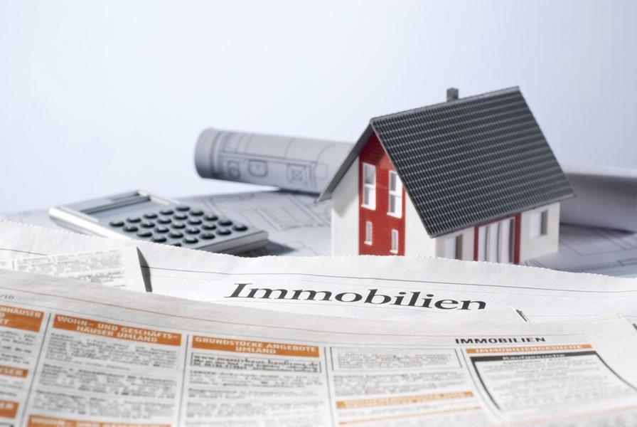 Immobilienanzeige in einer Zeitung