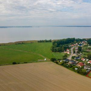 Luftbild mit Grundstück